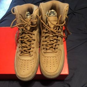 Men's Wheat Air Force Ones